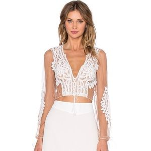 For love and lemons Penelope crop top